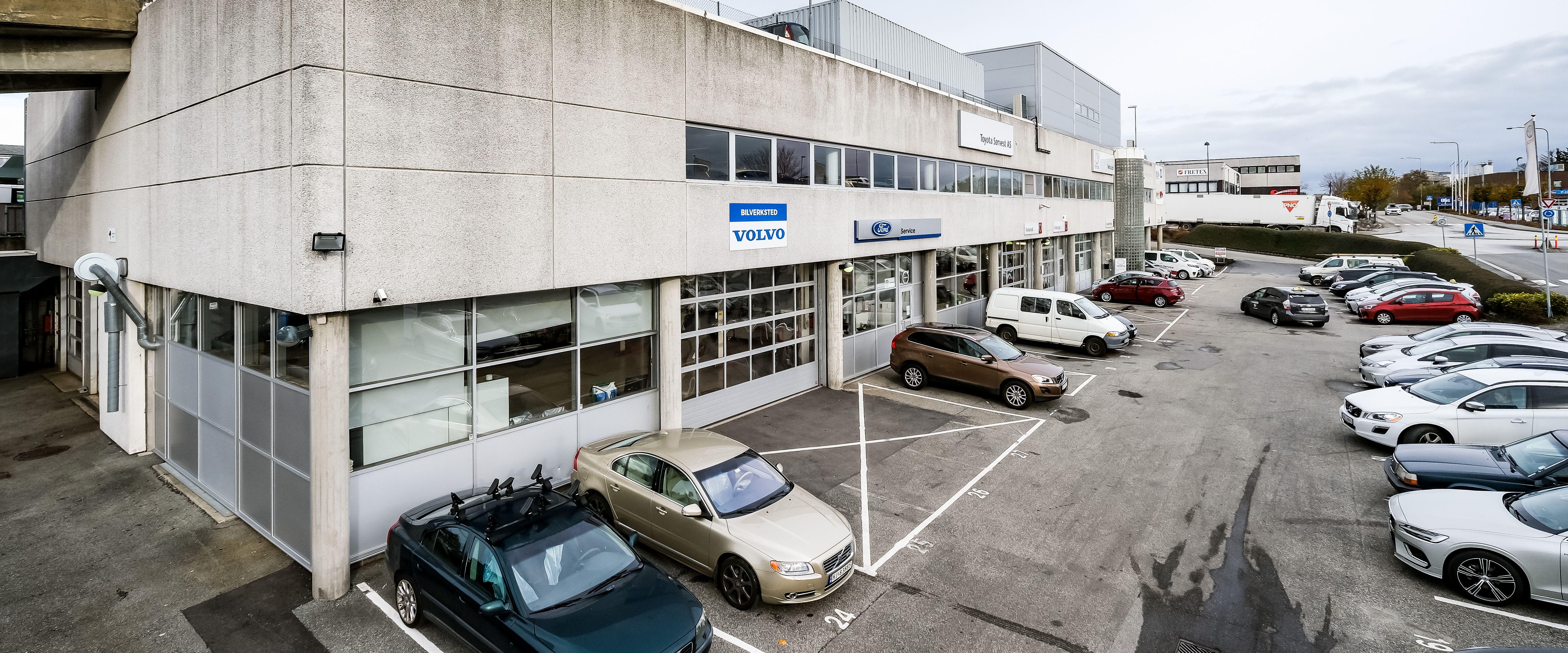 Bygget verkstedet Kverneland Bil | Mariero er i