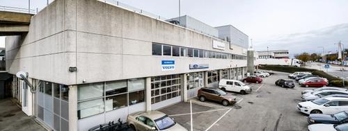Bygget Kverneland Bil Mariero verksted ligger i
