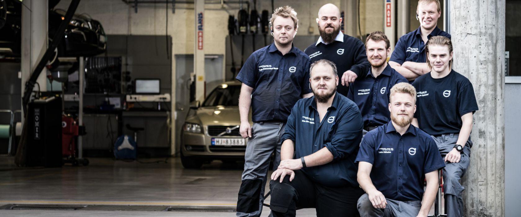 Bilde av de ansatte på Kverneland Bil | Mariero