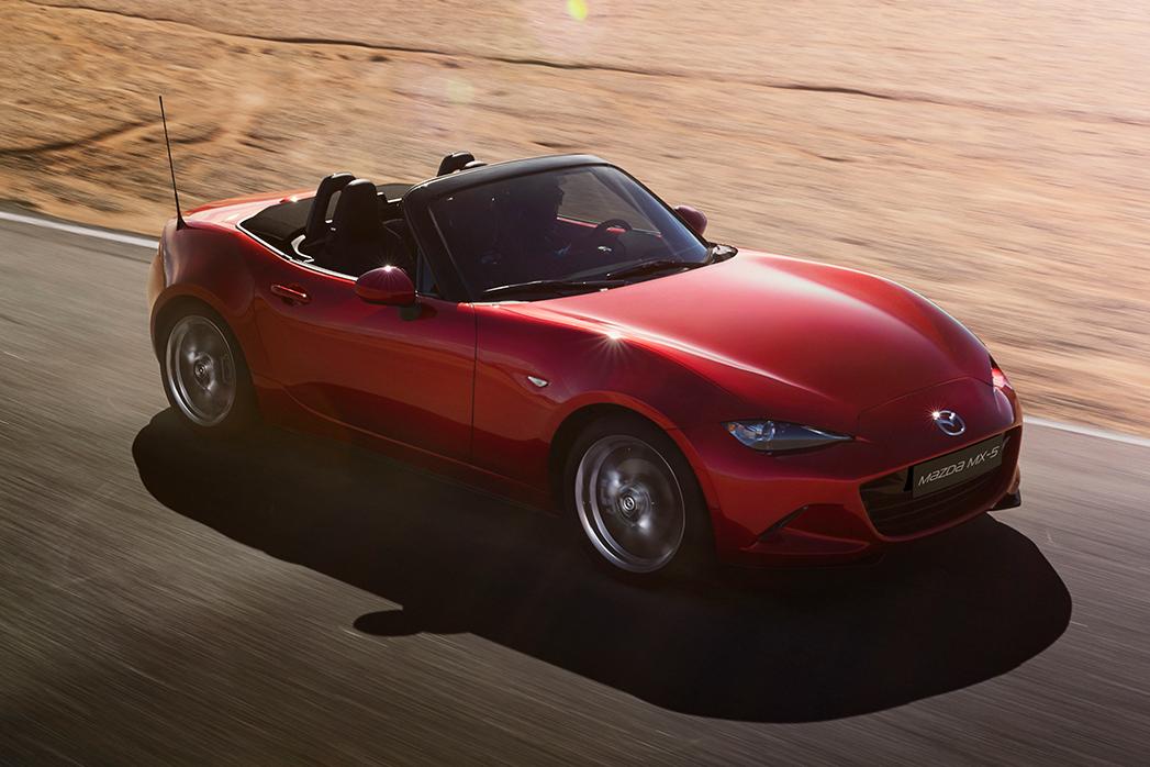 Illustrasjonsbilde av sportsbilen Mazda MX-5