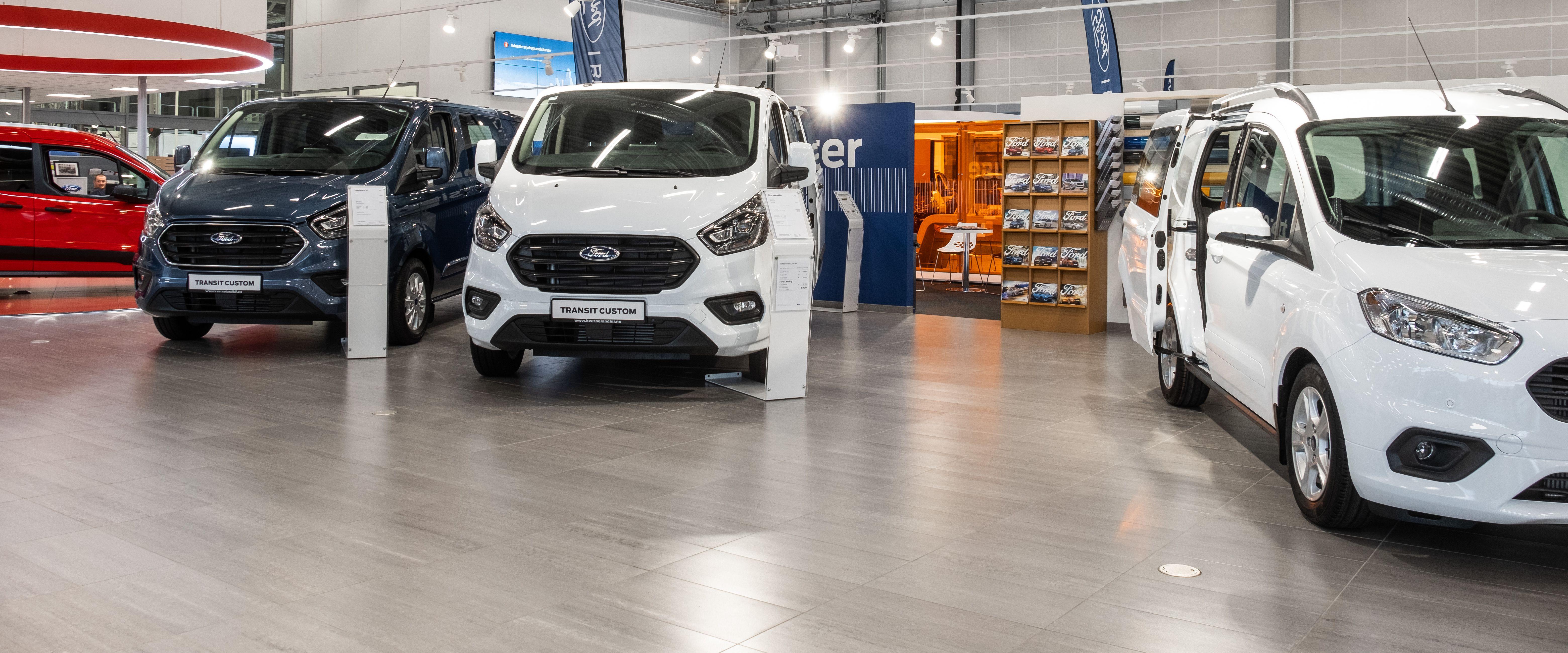 Nybilavdelingen i Ford Bilhuset