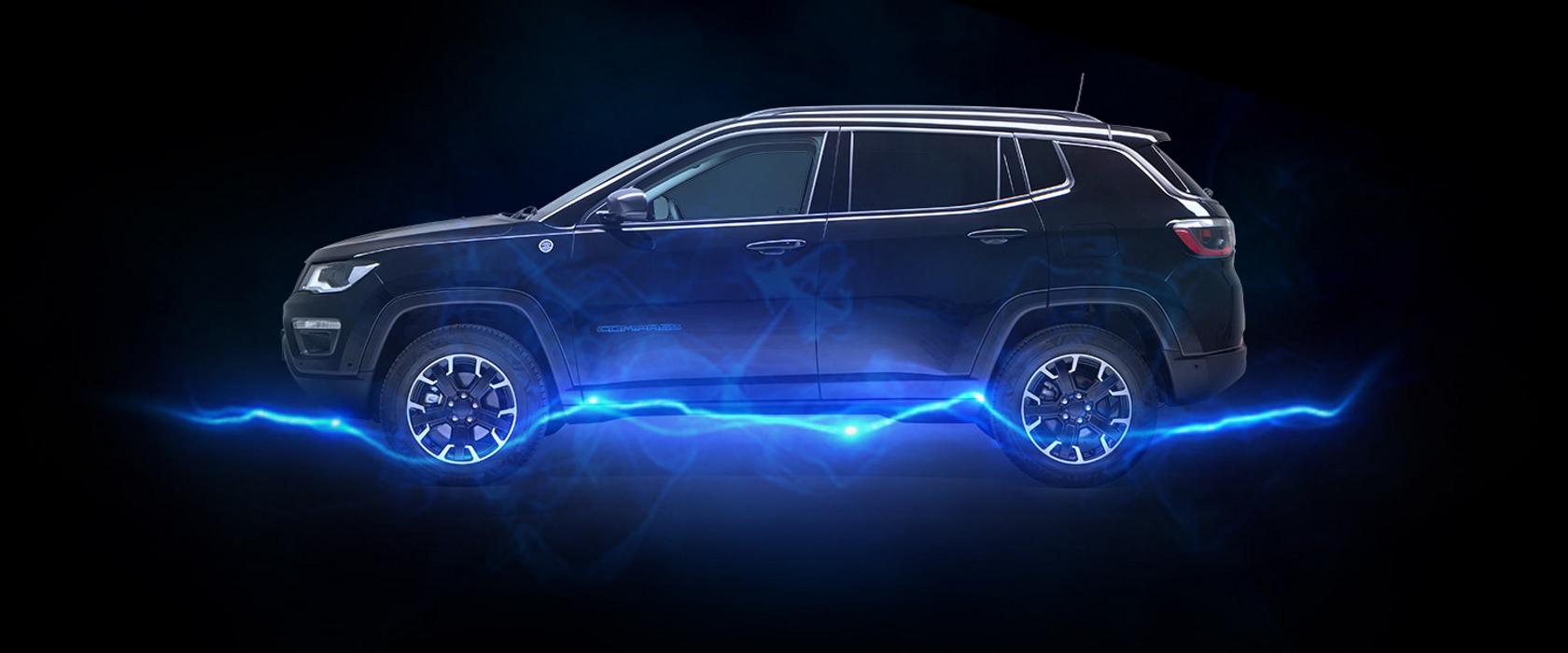 Jeep Compass umiskjennelige firehjulsdrift nå med elektriske kraft