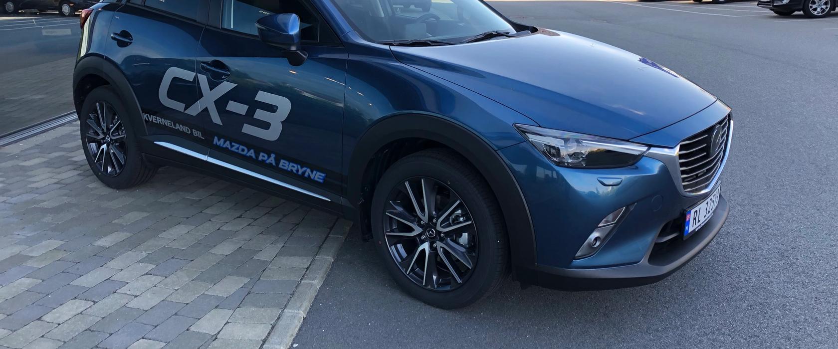 Nybilavdelingen på Mazda Bryne