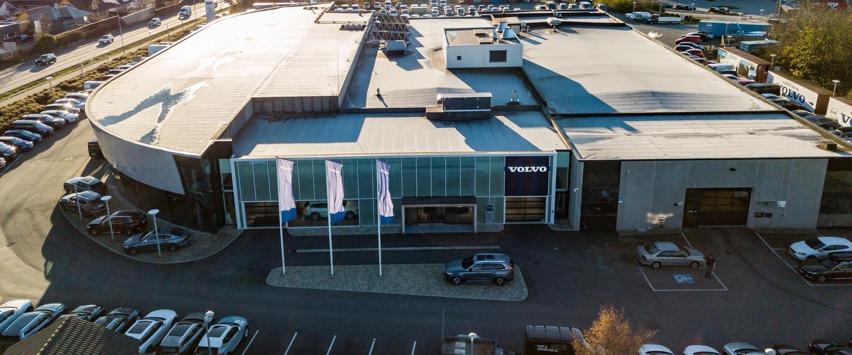 Bilde av Volvo-butikken på Bryne