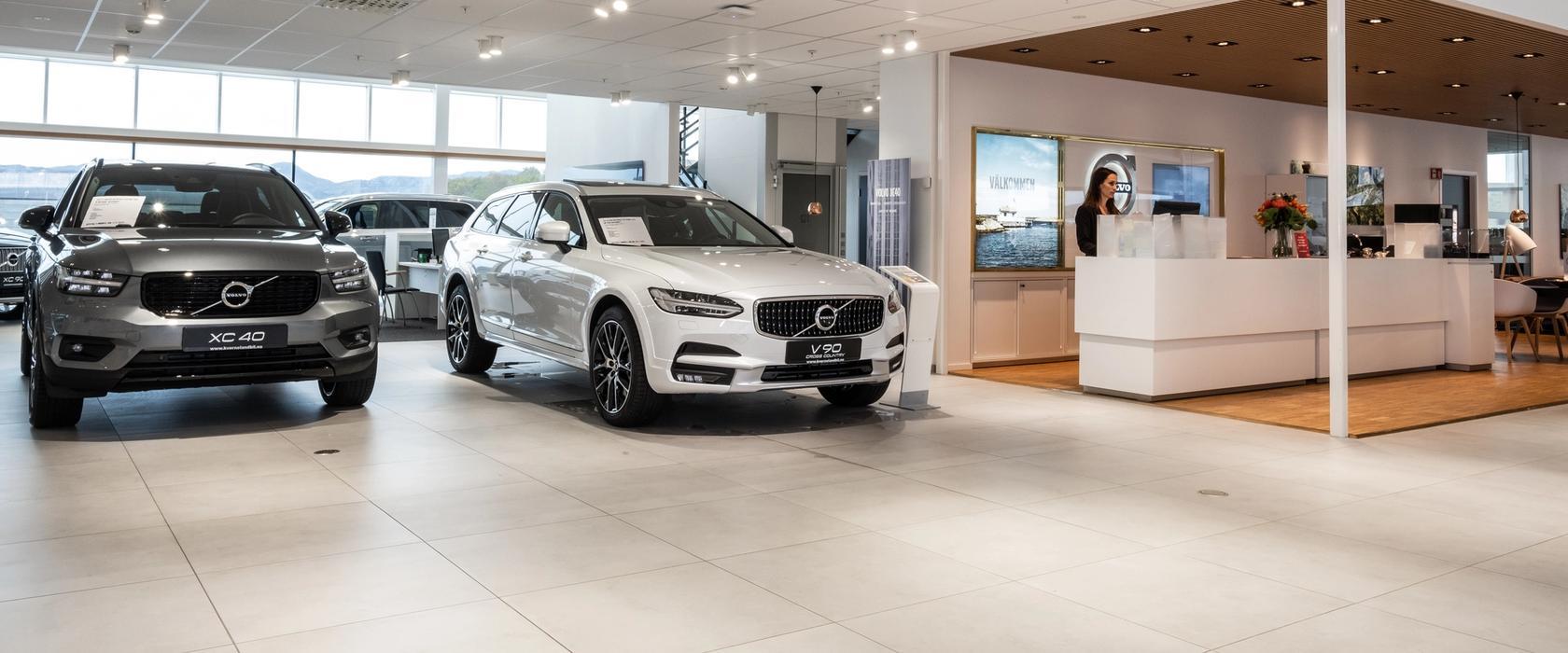 Nybilavdelingen hos Volvo Bilhuset