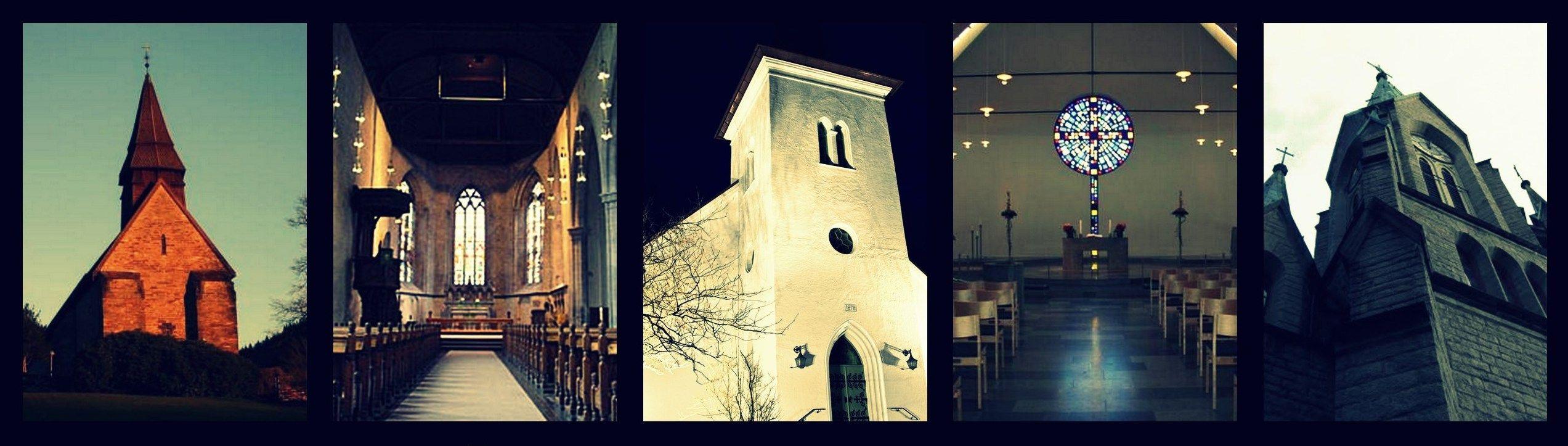 Fem ulike kirker