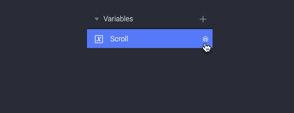 Click on the debug icon