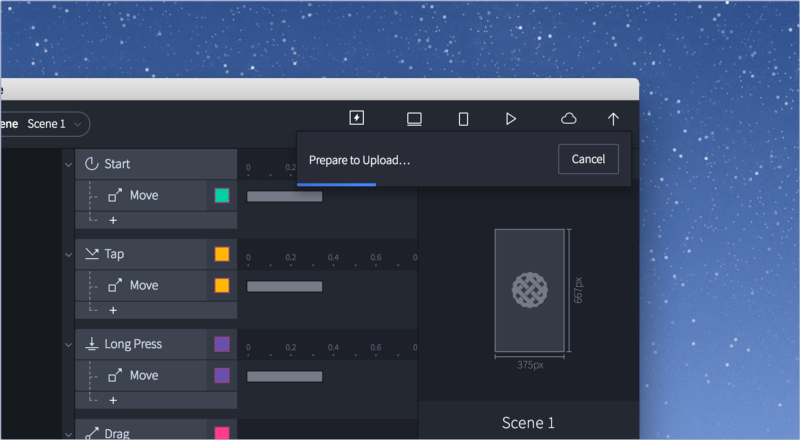 ProtoPie Studio cloud sharing feature