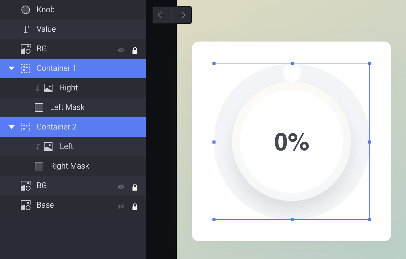 Put the left image into a container with the right shape layer and create a mask