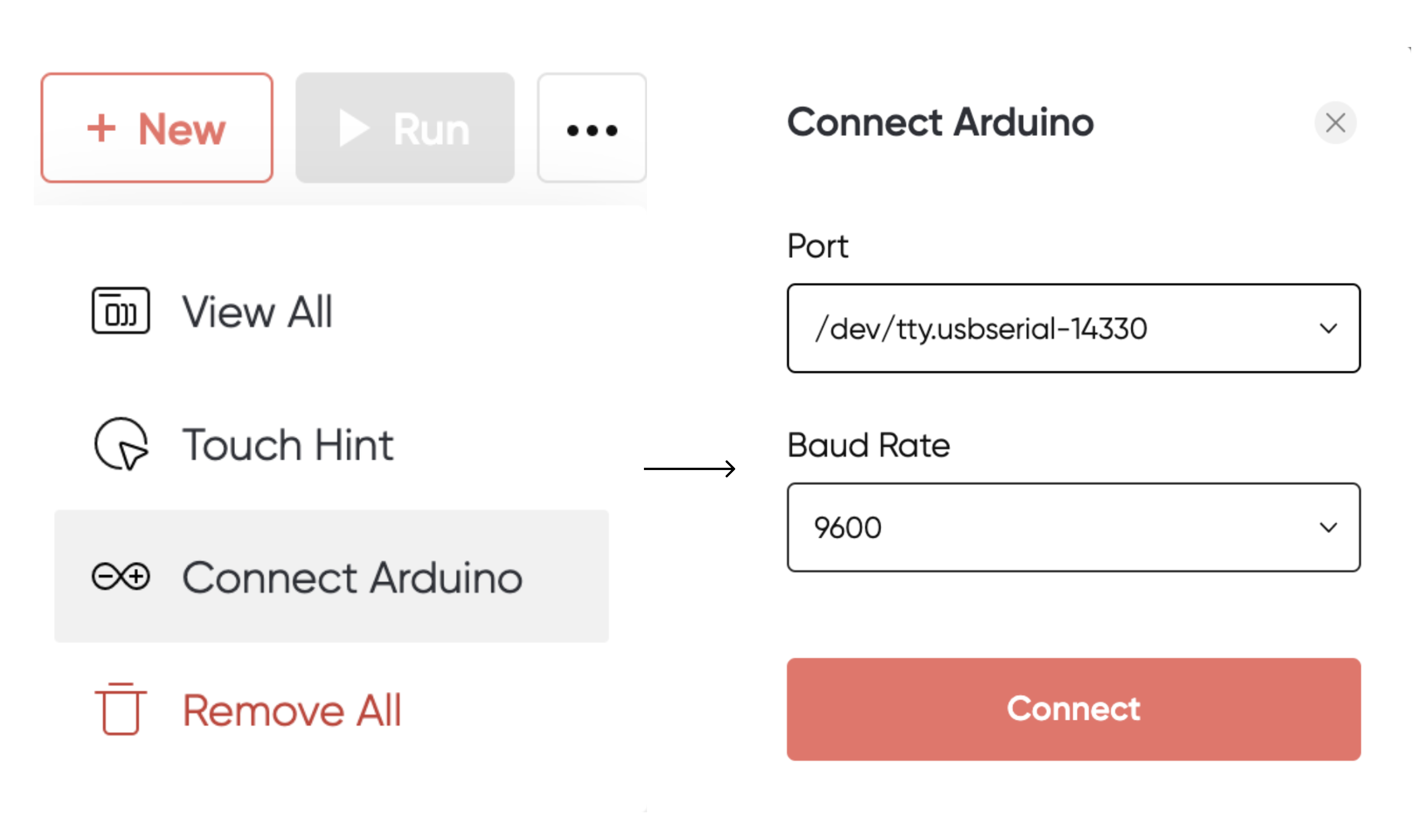 how to connect Arduino with ProtoPie connect