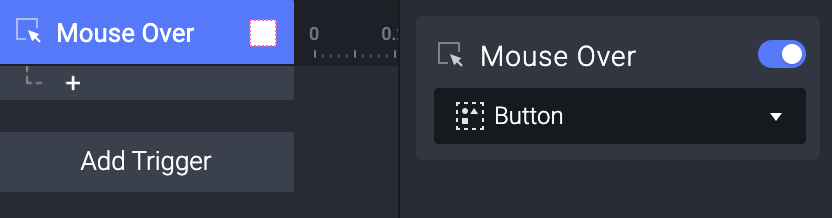Add a Mouse Over trigger to the Question mark button layer