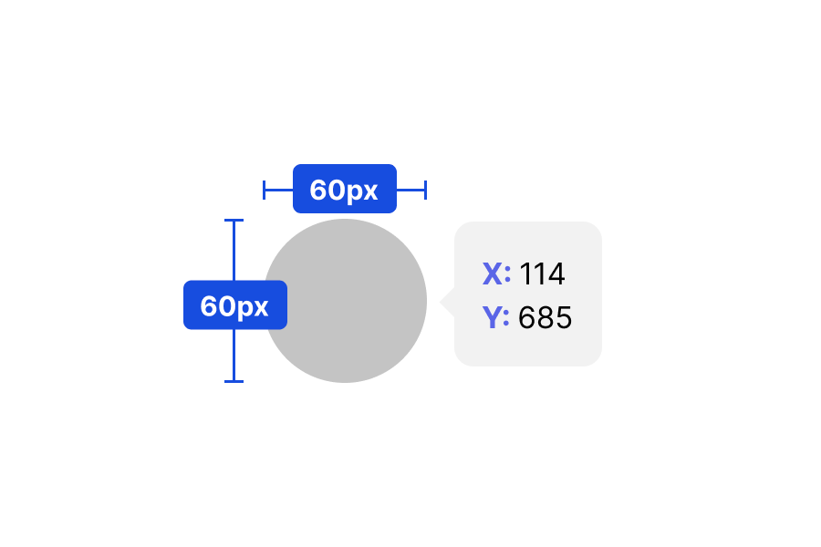 The Live button size is 60px by 60px, and the position is on (144,685).