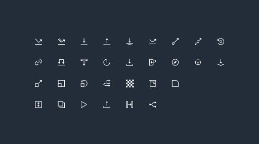 ProtoPie gestural icon set