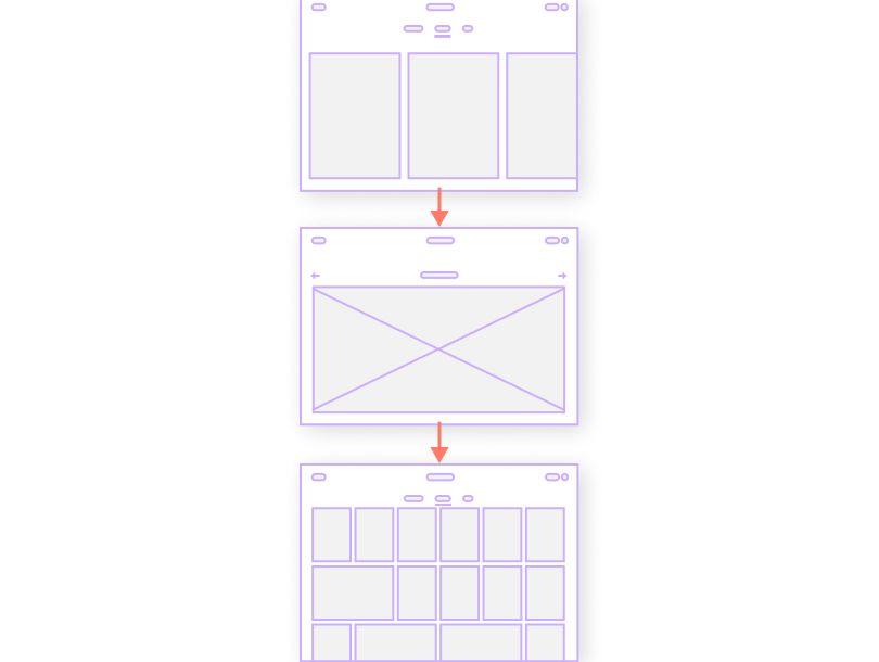 low fidelity website wireframe