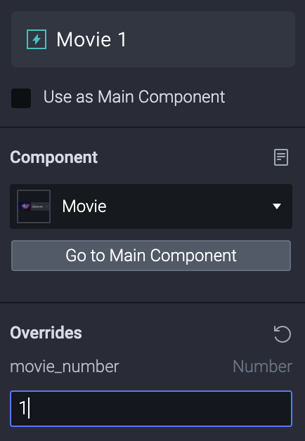 """Set the value of """"movie_number"""" of (movies 1 to 5) to 1, 2, 3, 4, 5 respectively."""