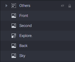 put assets in separate layers