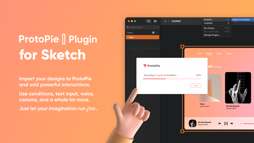main image (blog contents) of ProtoPie plugin for sketch