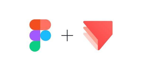 Figma plus ProtoPie logo