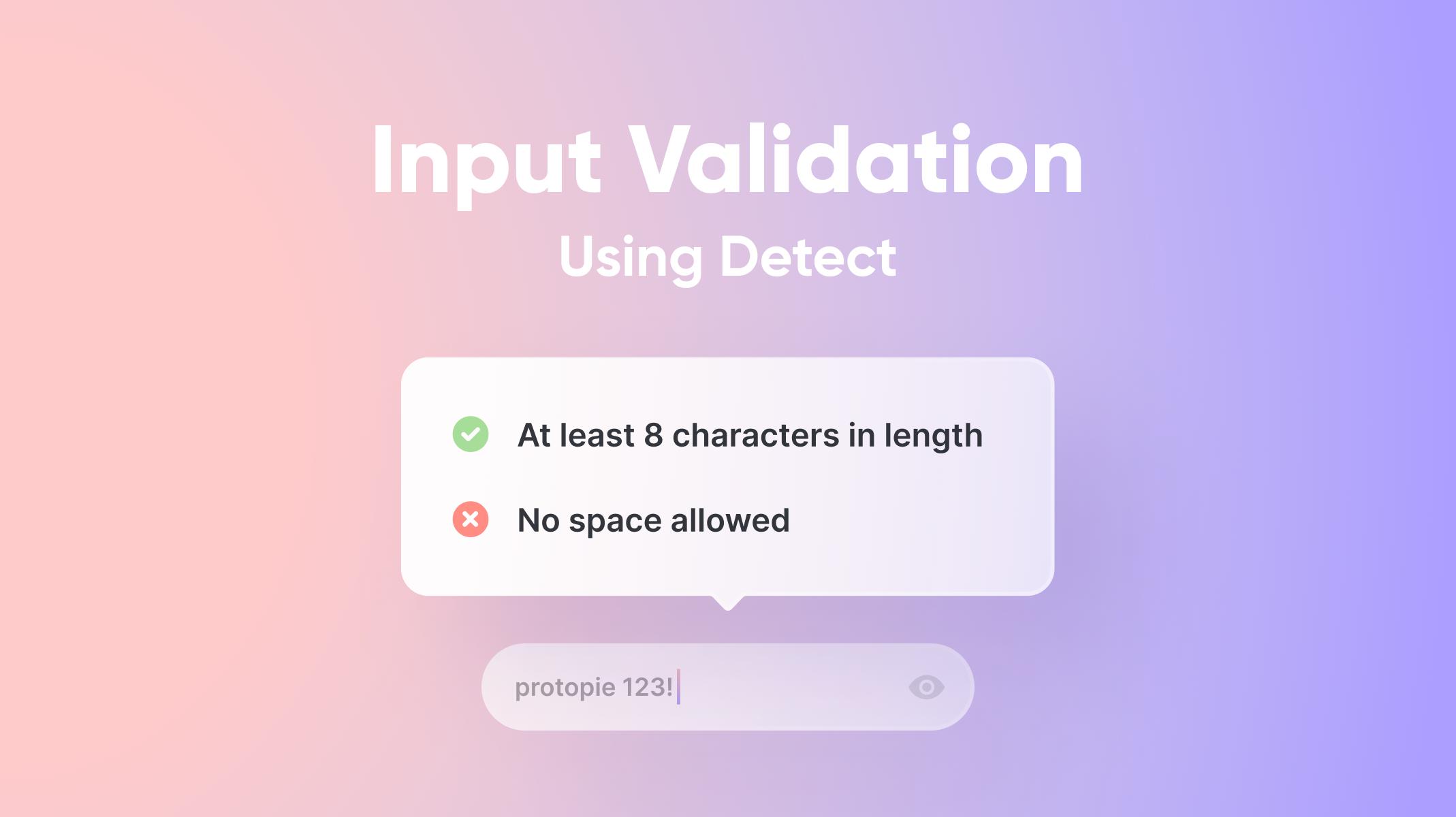 Input Validation Using Detect Thumbnail