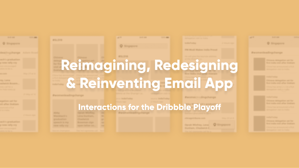 Reimagining redesigning and reinventing email app thumbnail