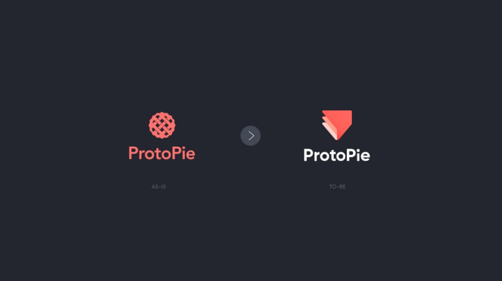 ProtoPie logo before and after