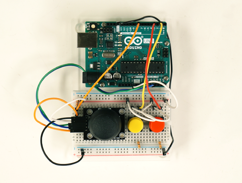 Finished setup of breadboard and microcontroller
