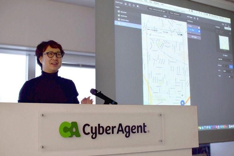 Tony Kim speaking about ProtoPie at CyberAgent Japan