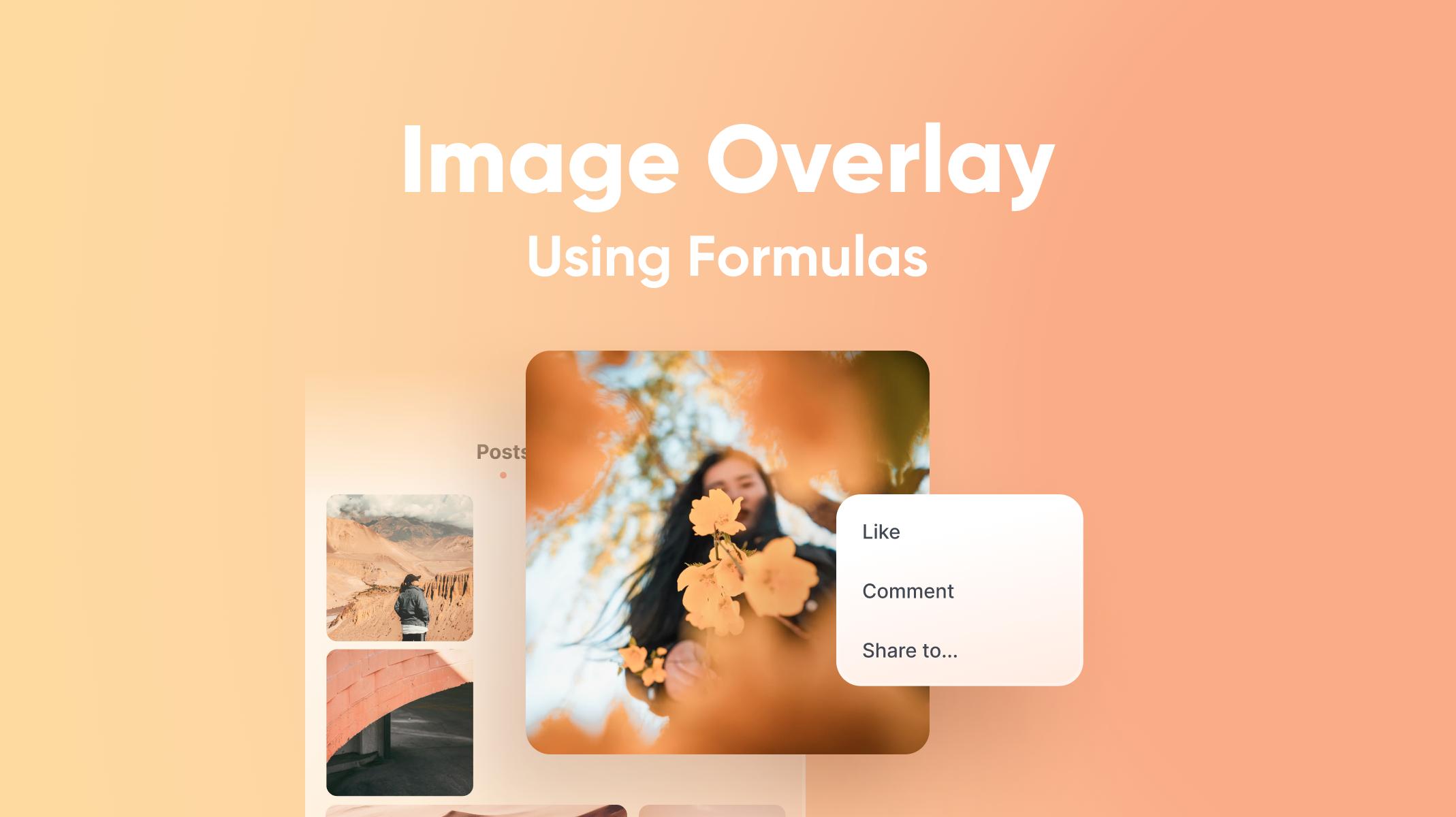 Image Overlay Using Formulas