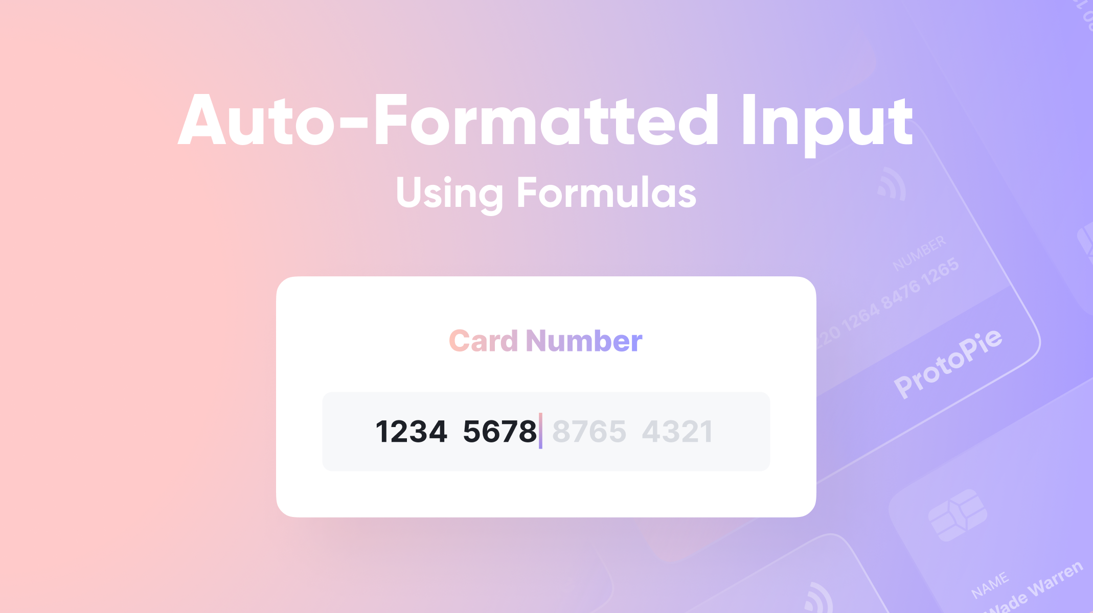 Auto-Formatted Input Using Formulas Thumbnail