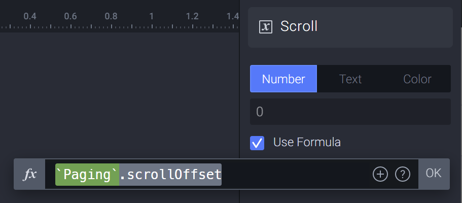 Use the formula in a variable