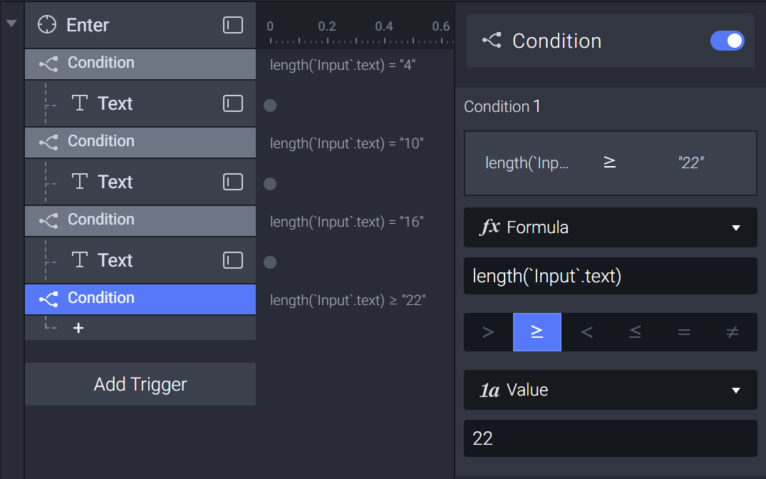 Add another condition when the Input layer's text length (or 'length') ≥ 22
