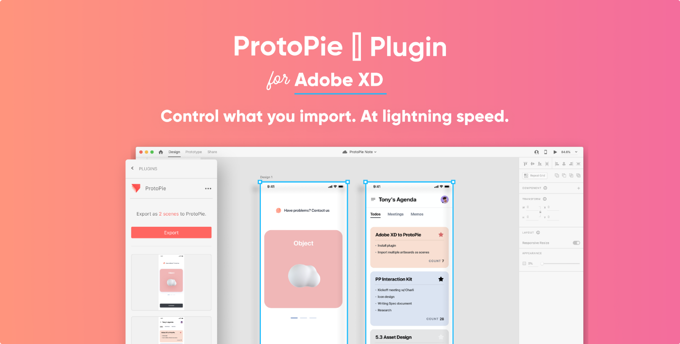 ProtoPie plugin for Adobe XD ads