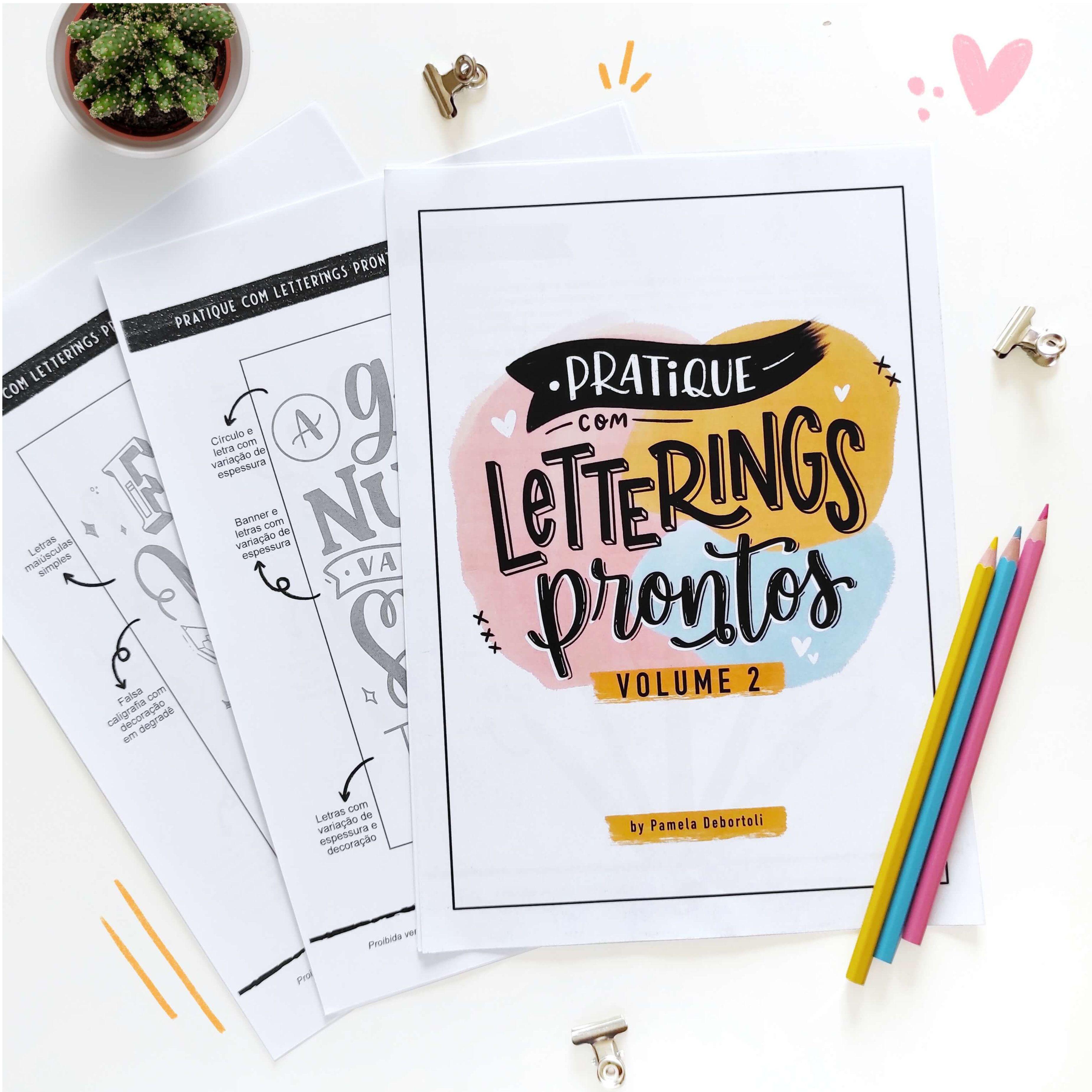 Pratique com Letterings Prontos - Vol. 2