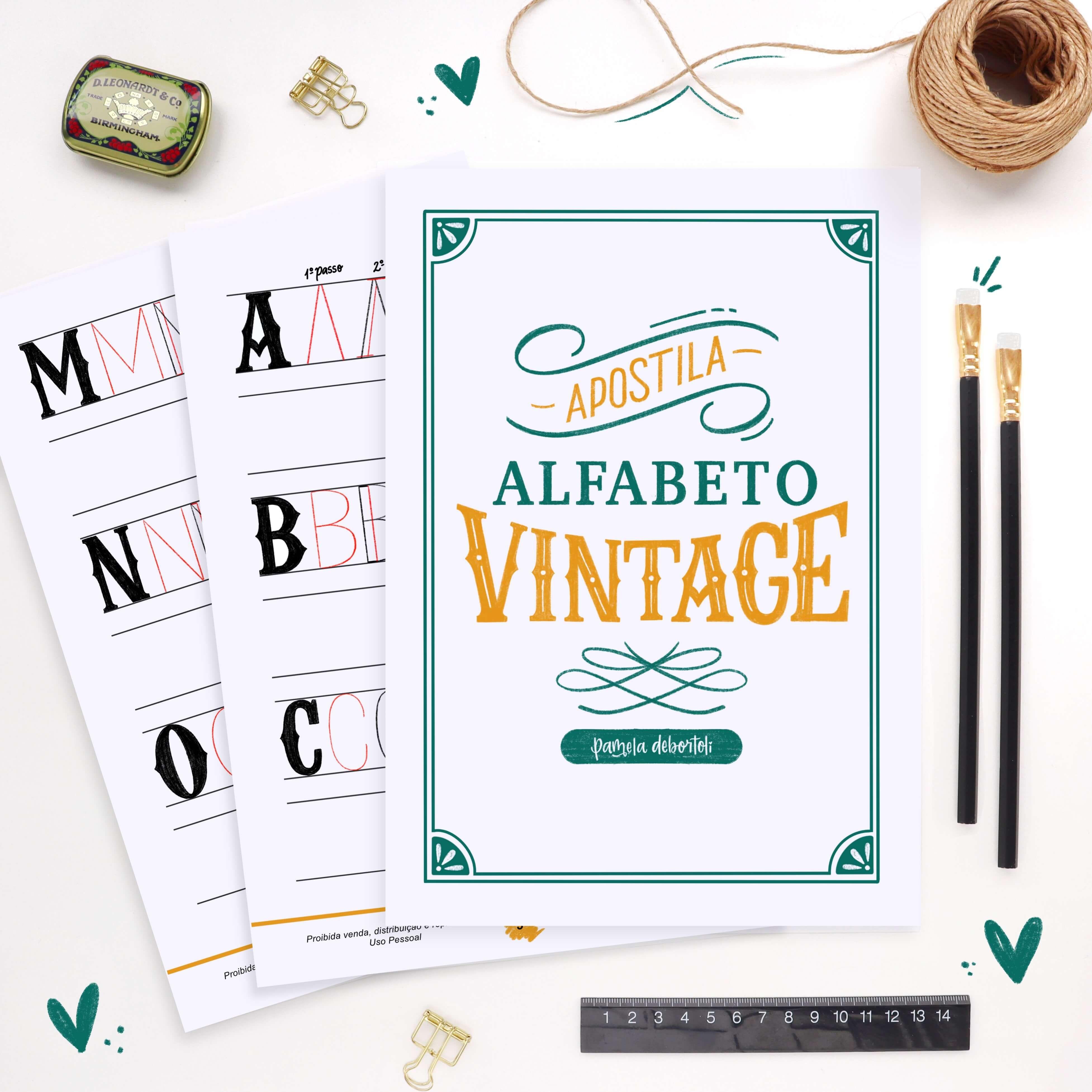 Apostila Alfabeto Vintage Completo