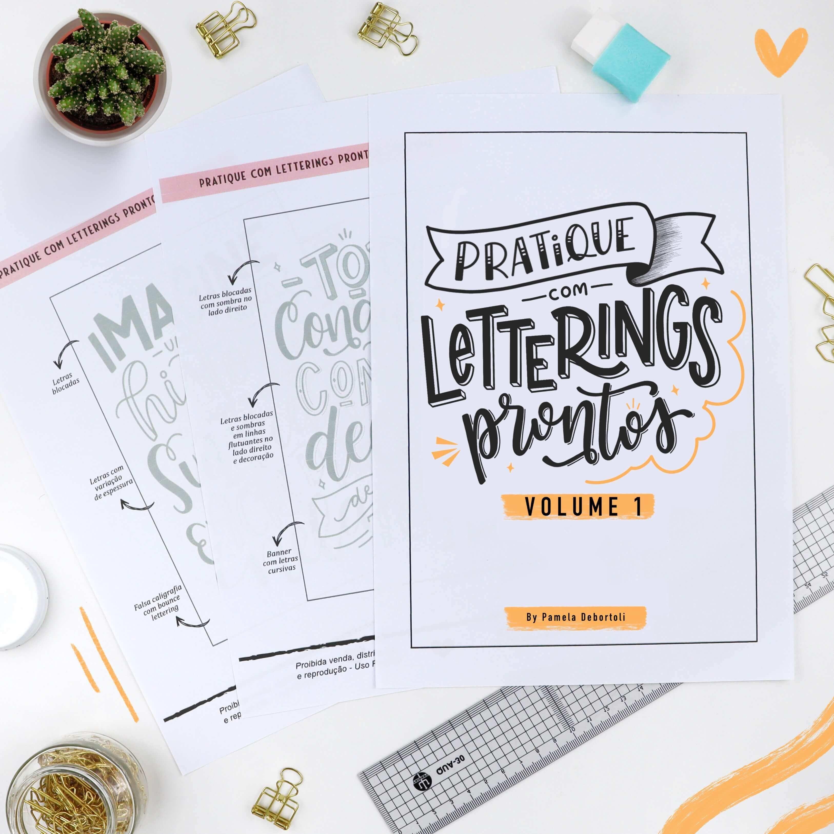 Pratique com Letterings Prontos - Vol. 1