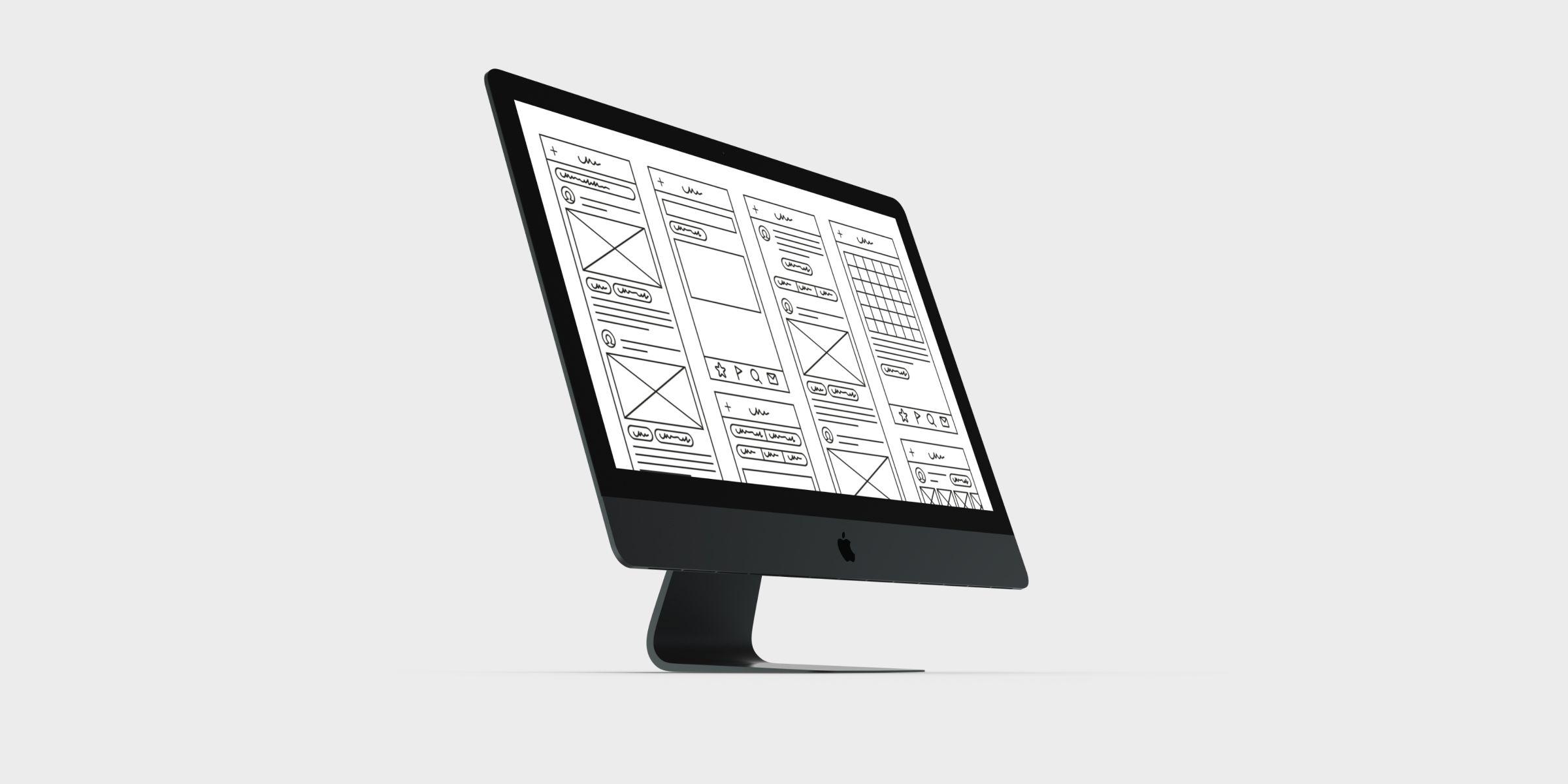 Modern Tech meets Modern Art. The E-Commerce Concept.