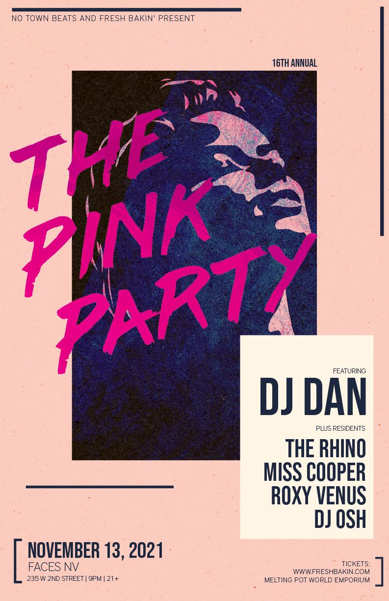 The Pink Party in Reno with DJ Dan on Nov 13 2021