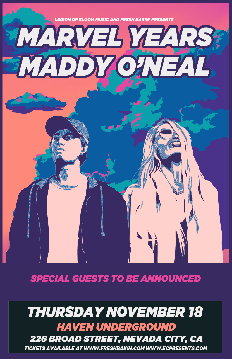 Marvel Years and Maddy O'Neal perform at Haven Underground in Nevada City, CA on November 18th, 2021.