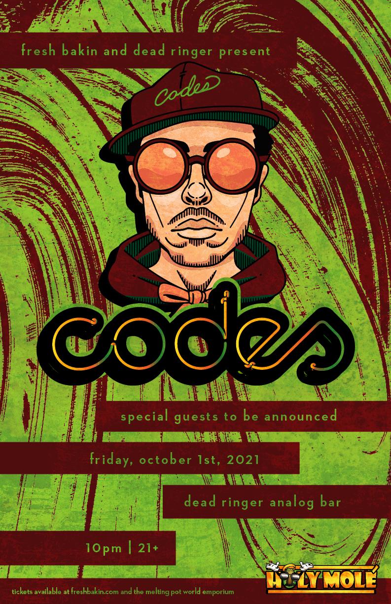 CODES debuts in Reno on October 1st, 2021 at Dead Ringer Analog Bar.