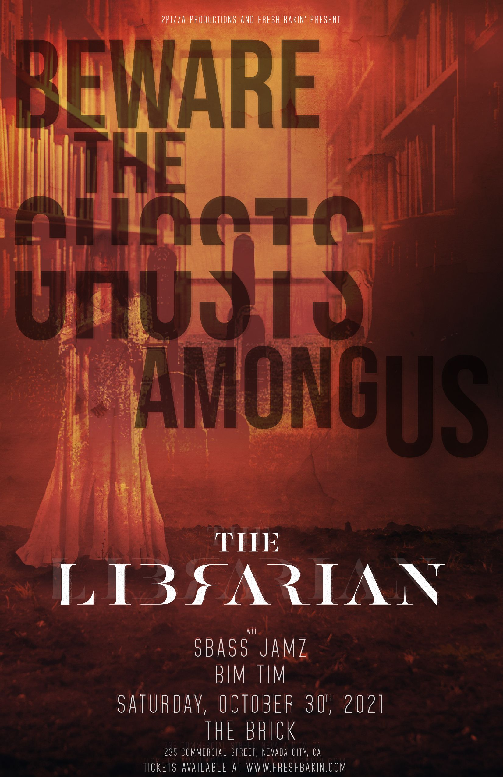 The Librarian in Nevada City at The Brick October 30th, 2021