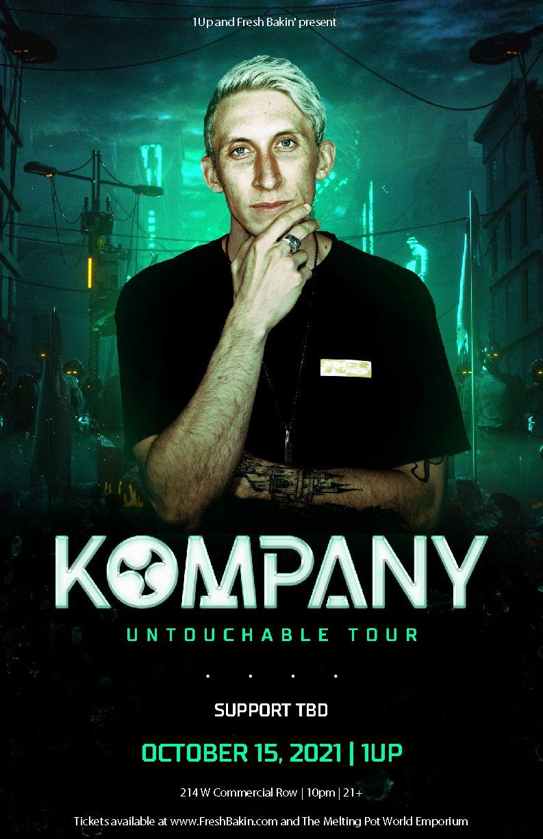 Kompany tour poster 2021 | FreshBakin.com