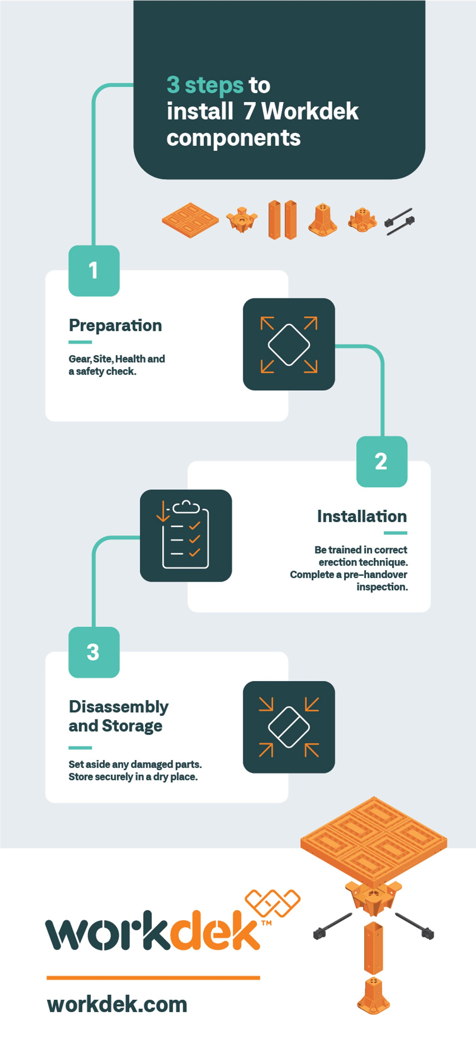 Install Workdek in 3 easy steps.