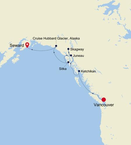 Vancouver à Seward (Anchorage, Alaska)