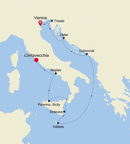 Civitavecchia (Rome) nach Venice