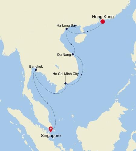 Hong Kong to Singapore