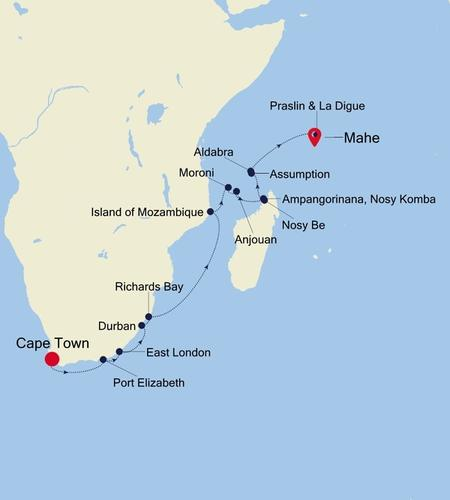 Cape Town to Mahe