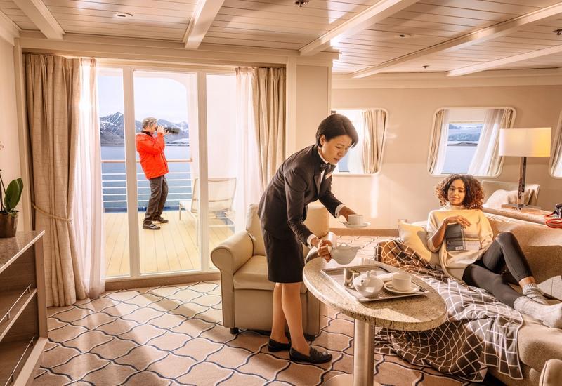 Gratificações e serviço personalizado a bordo