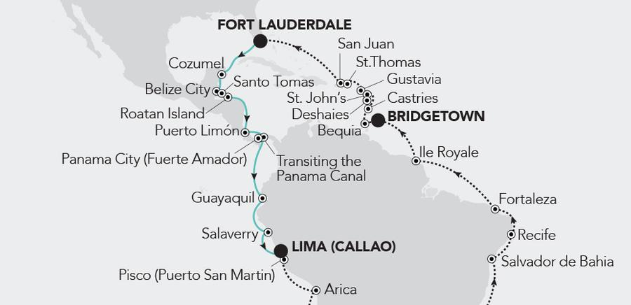 Fort Lauderdale, Florida a Lima (Callao)