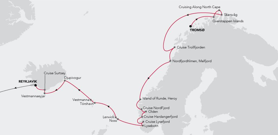 Tromsø to Reykjavik