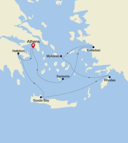 Athens (Piraeus) à Athens (Piraeus)